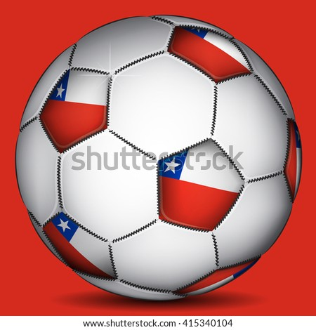 Chile soccer ball - stock photo