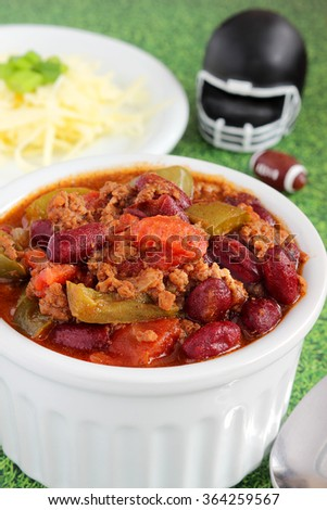 Chili is the perfect food for the big football game
