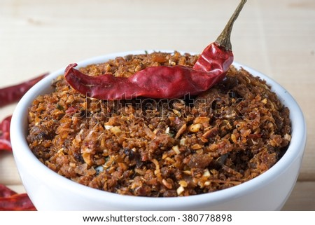 chili paste thai food ,made from grilled fish