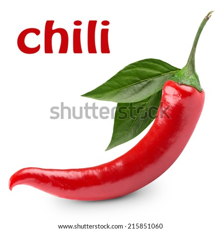 chili pepper isolated on a white background  - stock photo
