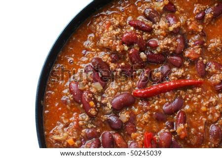 Chilli beans,Chilli con carne - stock photo