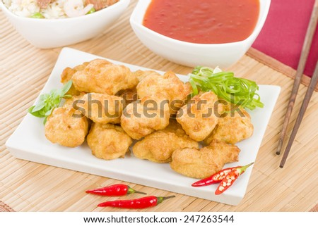 Chilli Chicken - Asian style battered and deep fried chicken pieces ...
