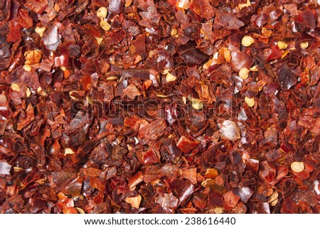 Chilli Flakes - stock photo