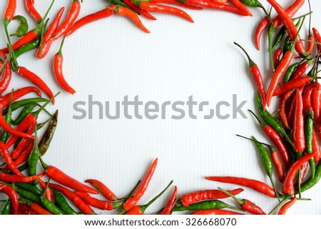 Chilli in form of picture frame - stock photo