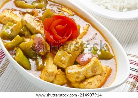 chilli paneer - stock photo