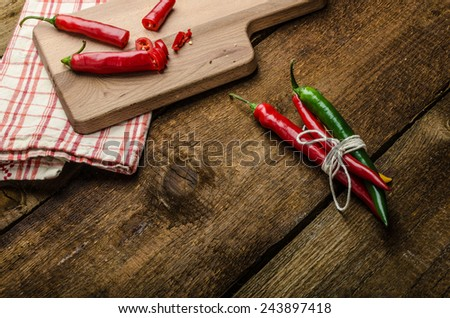 chilli peppers, various kinds of space for advertising text