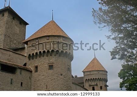Chillon Castle, Montreux Switzerland - stock photo