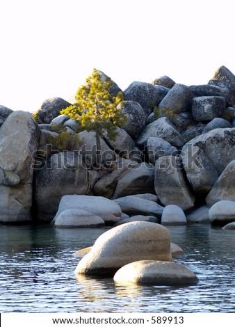 Chimney Beach - Lake Tahoe - Nevada - stock photo