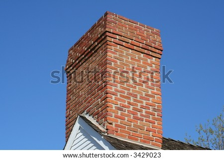 chimney on top of a building - stock photo