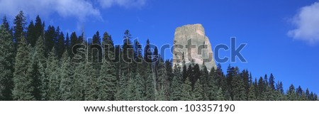 Chimney Peak in Uncompahgre National Forest, Ridgeway, Colorado - stock photo