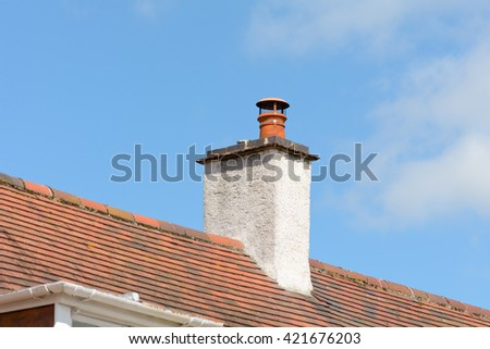 Chimney stack on Victorian style property
