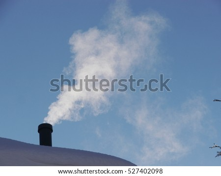 chimney winter snow