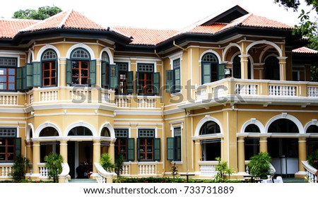 Chin Pracha Building Ancient House In Colonial Style Phuket Thailand