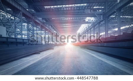 China, a large factory floor
