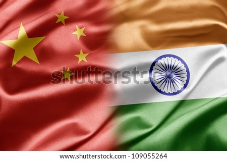 China and India - stock photo
