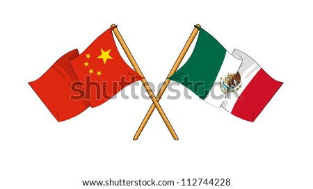 China and Mexico alliance and friendship - stock photo