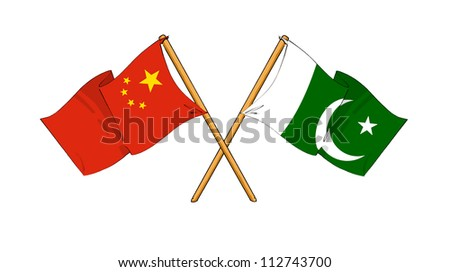 China and Pakistan alliance and friendship - stock photo