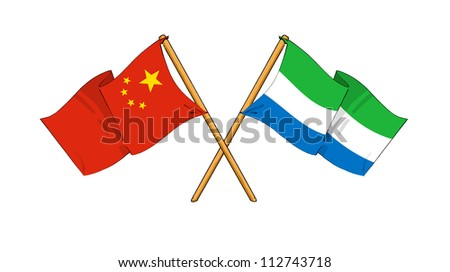 China and Sierra Leone alliance and friendship - stock photo