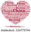 China beijing info-text graphics and arrangement concept on white background (word cloud) - stock photo