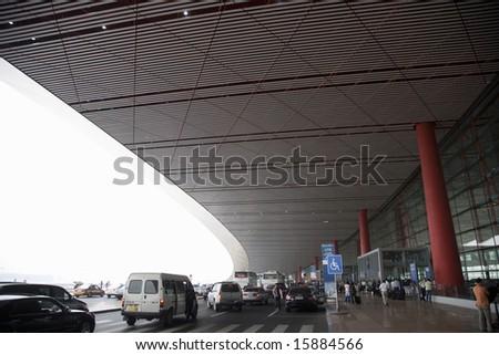 China. Beijing. The New  International Airport. - stock photo