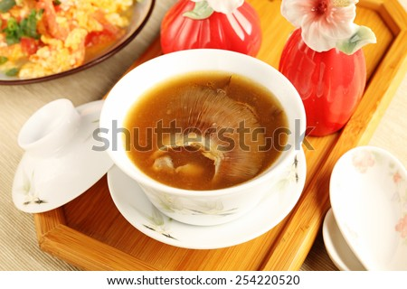 China delicious food, shark fin soup.  - stock photo