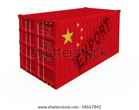 China export - stock photo