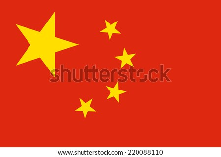 China Flag. Close up.