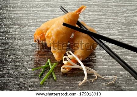 china fried shrimp - stock photo
