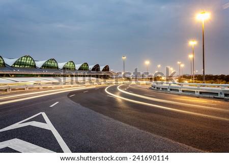 China Guangzhou Baiyun Airport - stock photo