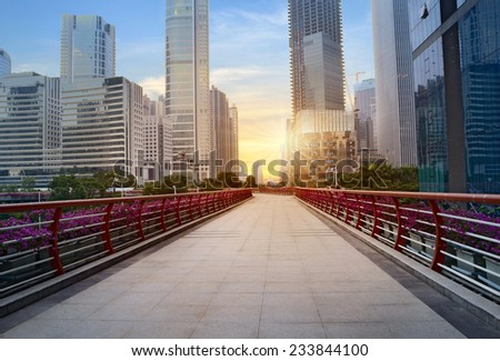 China Guangzhou cityscape  - stock photo
