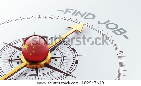 China High Resolution Find Job Concept - stock photo