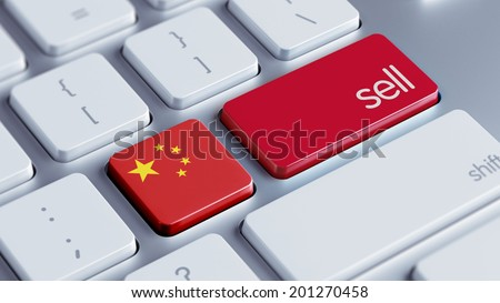 China High Resolution Sell Concept - stock photo