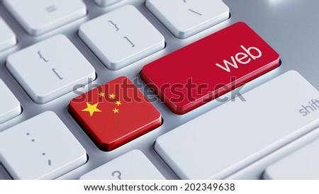 China High Resolution Web Concept - stock photo