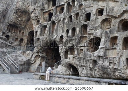 China/Luoyang:The buddha of Longmen Grottoes, which were created in the Northern Wei and Tang Dynasty