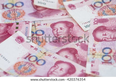 china money 100 bank note background