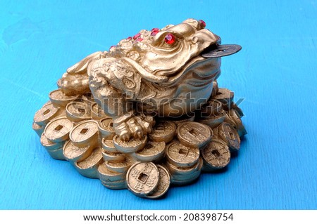 china money frog - stock photo
