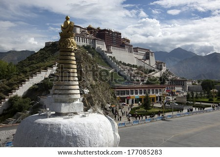China Potala Palace in Tibet