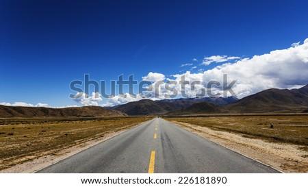 China's Tibet, field road