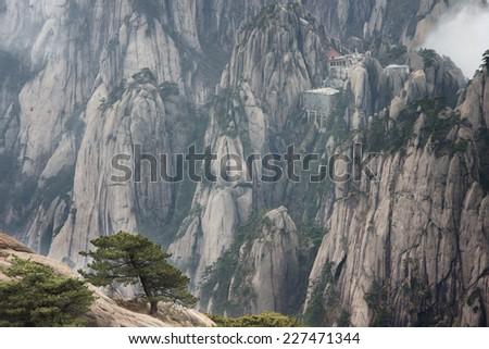 China's Yellow Mountains, Mt Huangshan - stock photo