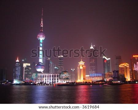China Shanghai -Pearl tower - stock photo