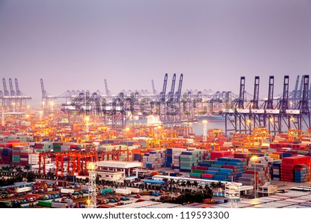 China Shenzhen, Yantian Port - stock photo