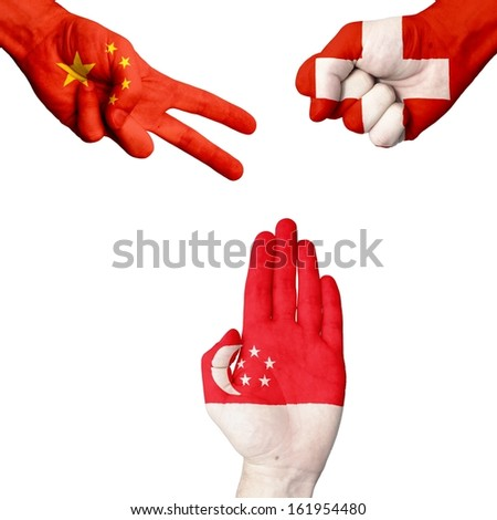 China Switzerland Singapore rock-paper-scissors
