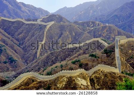 China the great wall Badaling - stock photo