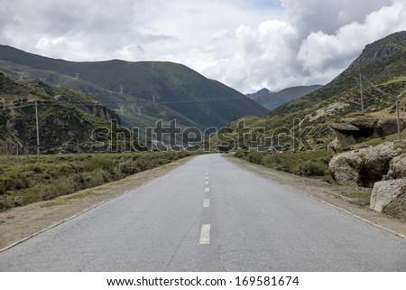 China Tibet Highway - stock photo