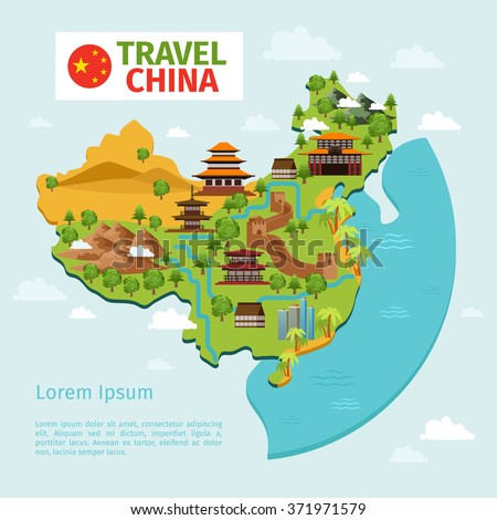 China travel map stock illustration 371971579 shutterstock china travel map gumiabroncs Choice Image