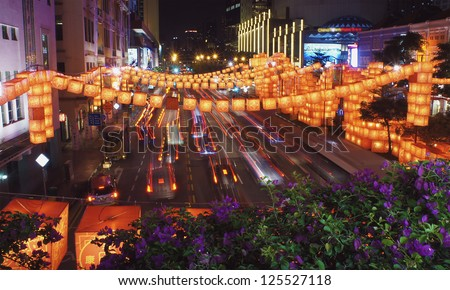 Chinatown - Chinese New Year Celebration 2013 - stock photo