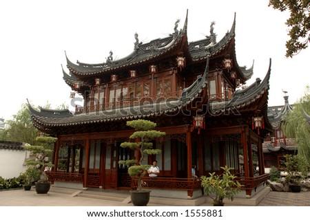 chinese architecture - stock photo
