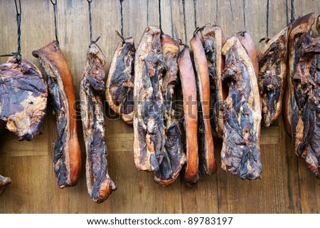 chinese bacon - stock photo