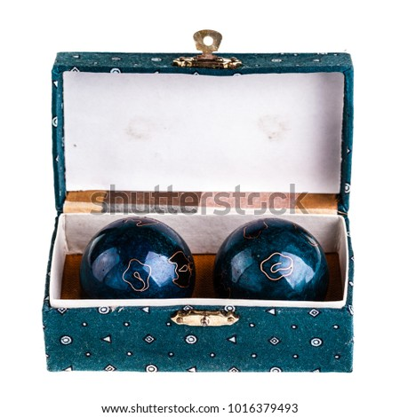 Chinese Baoding balls or medicine balls isolated over a white background