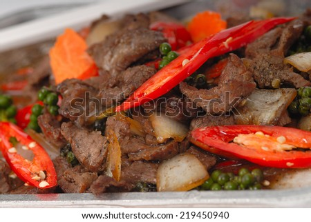 Chinese Black Bean Beef Stir Fry Pan Of The Chicken Pepper Mushroom